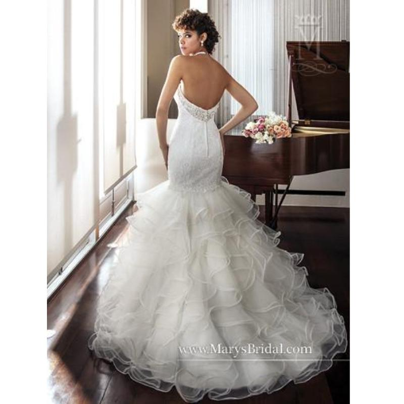 Lacetulle sweet heart ruffled trumpet style bridal gown m6289 lacetulle sweet heart ruffled trumpet style bridal gown m6289 junglespirit Gallery